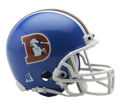 Denver Broncos 1975-1996 Throwback Riddell Z2B Mini Helmet