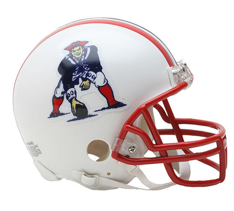 New England Patriots Throwback 1990-1992 Riddell Z2B Mini Helmet
