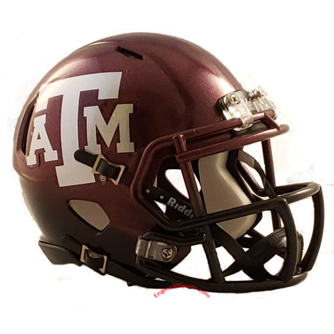 Texas A&M Aggies Riddell Speed Mini Helmet - 2018 Two Tone