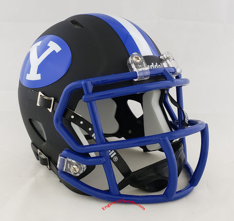 BYU Cougars 2020 Matte Black Riddell Speed Mini Helmet