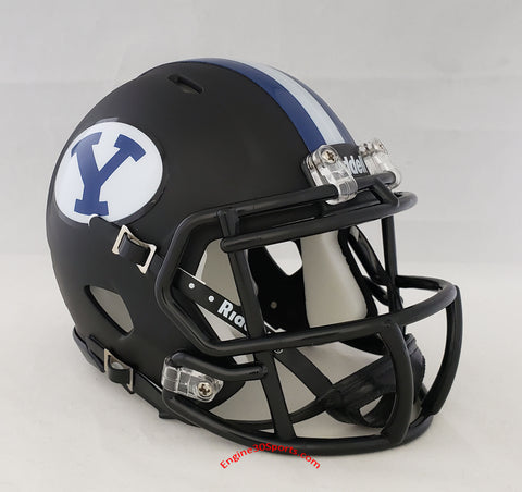 BYU Cougars Matte Black Riddell Speed Mini Helmet