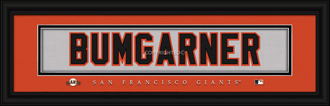 "Madison Bumgarner San Francisco Giants 8""x24"" Nameplate Print"