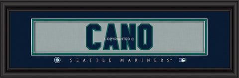 "Robinson Cano Seattle Mariners 8""x24"" Nameplate Print"