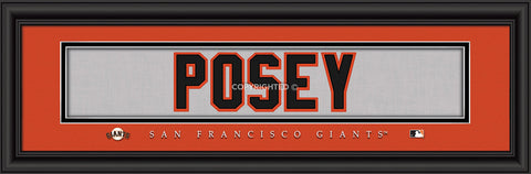 "Buster Posey San Francisco Giants 8""x24"" Nameplate Print"