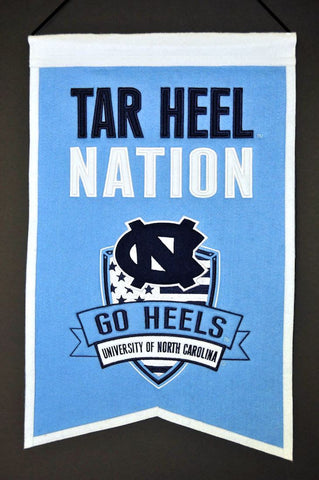 "North Carolina Tar Heels 20""x15"" Wool Tar Heel Nation Banner"