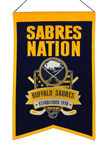 "Buffalo Sabres 20""x15"" Wool Sabres Nation Banner"