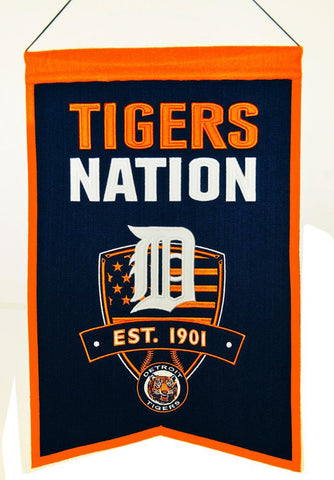 "Detroit Tigers 20""x15"" Wool Tigers Nation Banner"