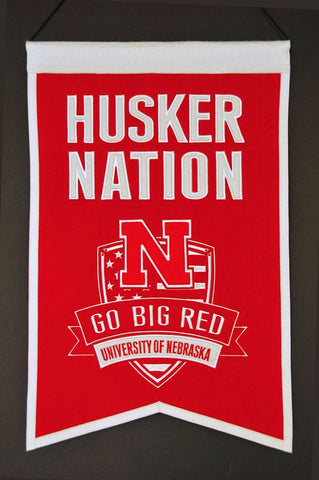 "Nebraska Cornhuskers 20""x15"" Wool Husker Nation Banner"