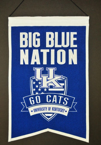 "Kentucky Wildcats 20""x15"" Wool Big Blue Nation Banner"