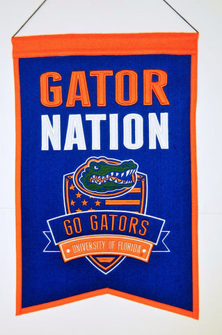 "Florida Gators 20""x15"" Wool Gator Nation Banner"