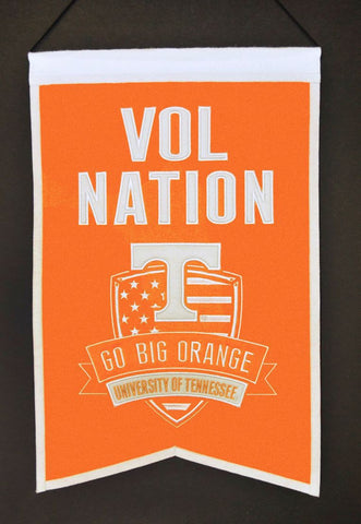 "Tennessee Volunteers 20""x15"" Wool Vol Nation Banner"