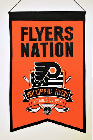 "Philadelphia Flyers 20""x15"" Wool Flyers Nation Banner"