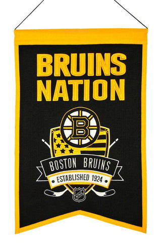 "Boston Bruins 20""x15"" Wool Bruins Nation Banner"