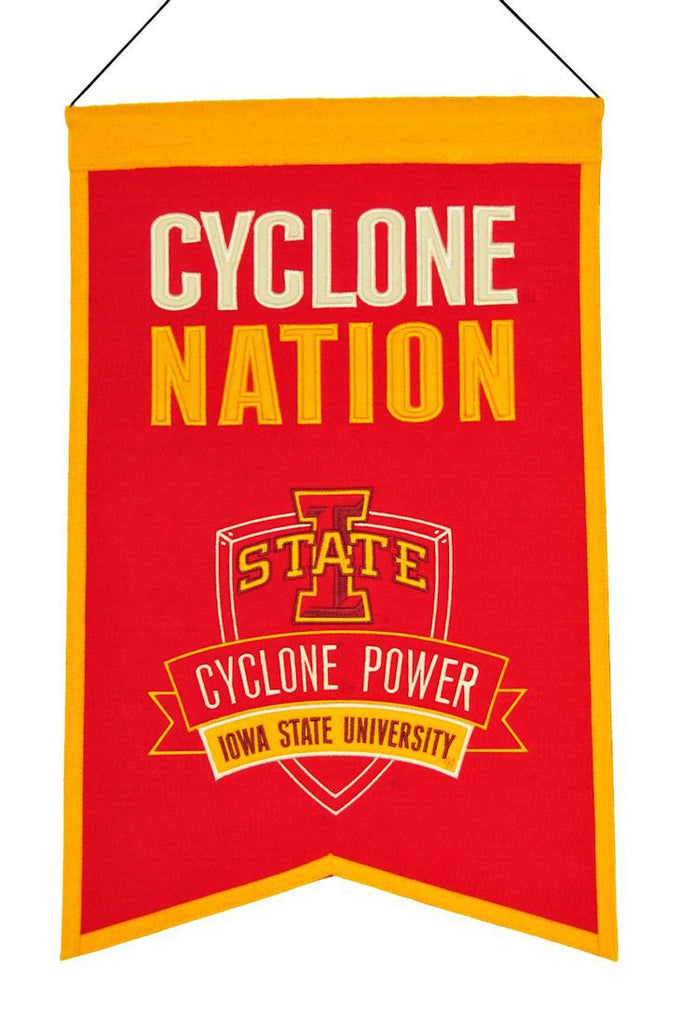 "Iowa State Cyclones 20""x15"" Wool Cyclone Nation Banner"