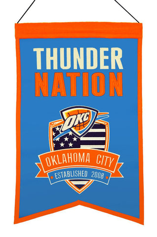 "Oklahoma City Thunder 20""x15"" Wool Thunder Nation Banner"
