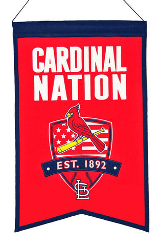 "St. Louis Cardinals 20""x15"" Wool Cardinals Nation Banner"