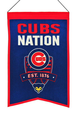 "Chicago Cubs 20""x15"" Wool Cubs Nation Banner"