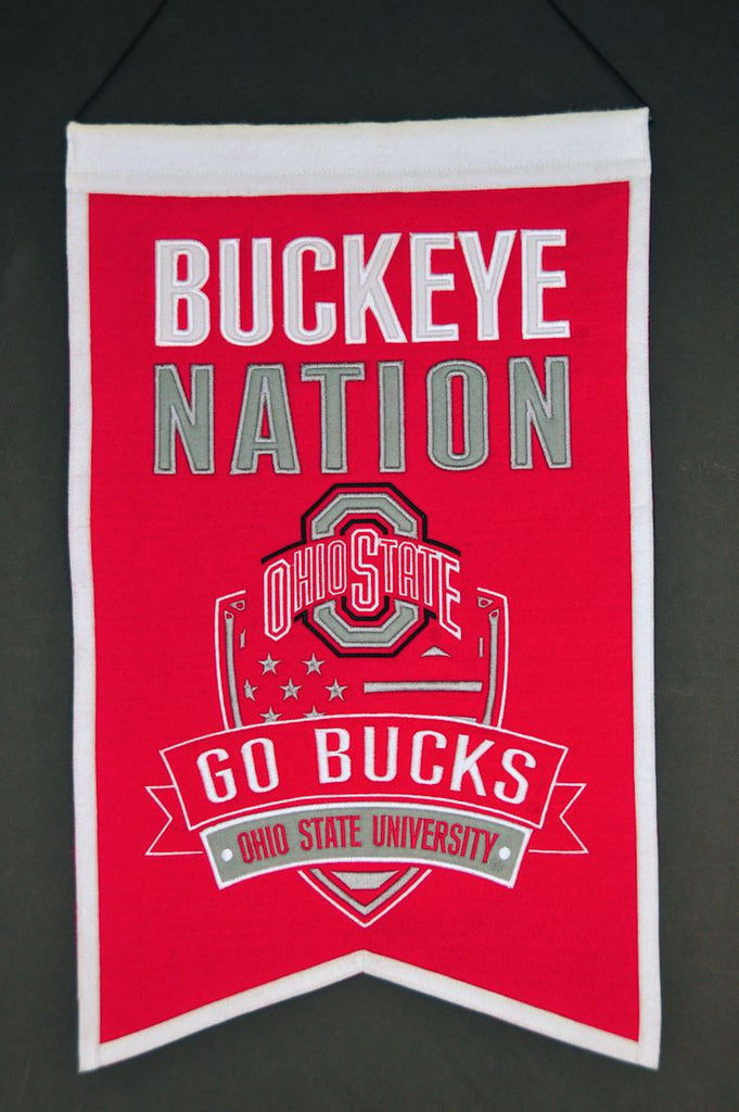 "Ohio State Buckeyes 20""x15"" Wool Buckeye Nation Banner"