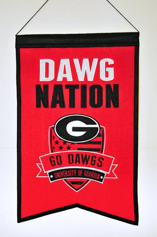 "Georgia Bulldogs 20""x15"" Wool Dawg Nation Banner"