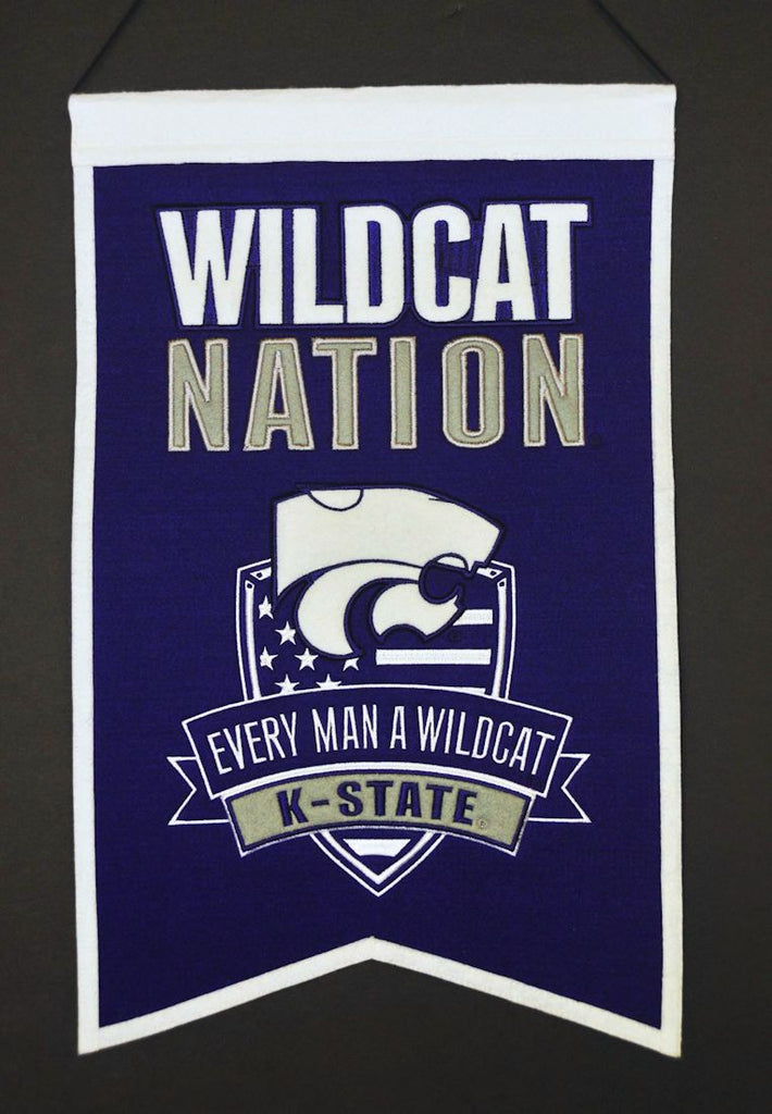 "Kansas State Wildcats 20""x15"" Wool Wildcats Nation Banner"