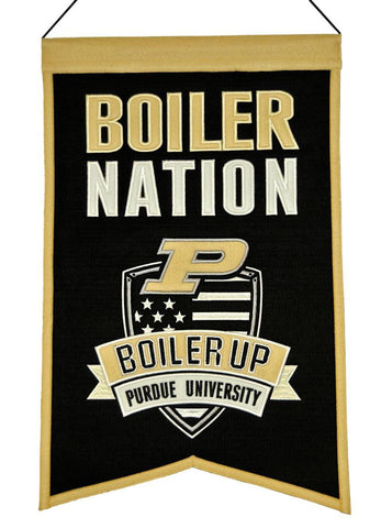 "Purdue Boilermakers 20""x15"" Wool Boiler Nation Banner"