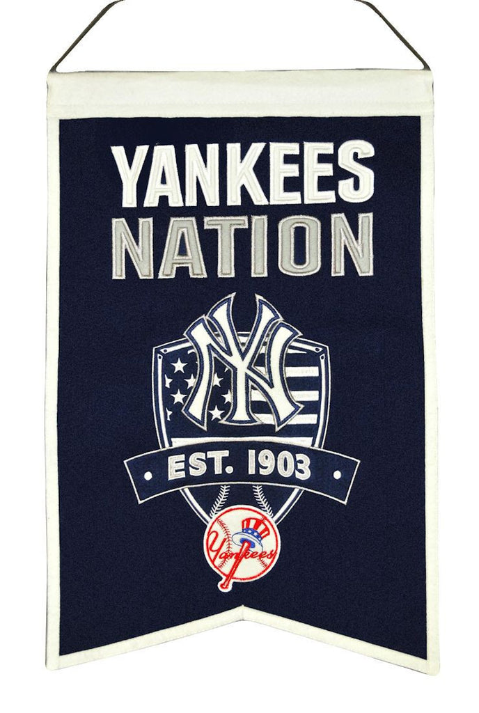 "New York Yankees 20""x15"" Wool Yankees Nation Banner"