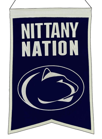 "Penn State Nittany Lions 20""x15"" Wool Nittany Nation Banner"