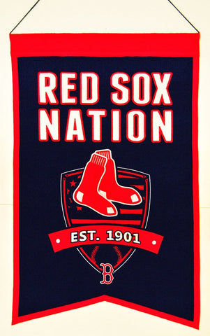 "Boston Red Sox 20""x15"" Wool Red Sox Nation Banner"