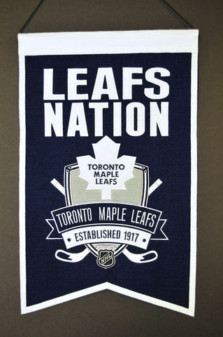 "Toronto Maple Leafs 20""x15"" Wool Leafs Nation Banner"
