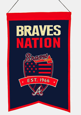 "Atlanta Braves 20""x15"" Wool Braves Nation Banner"