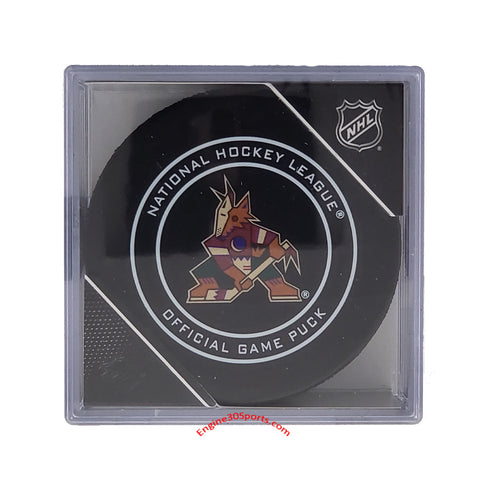 Arizona Coyotes Alt Logo Official Game Puck In Display Holder