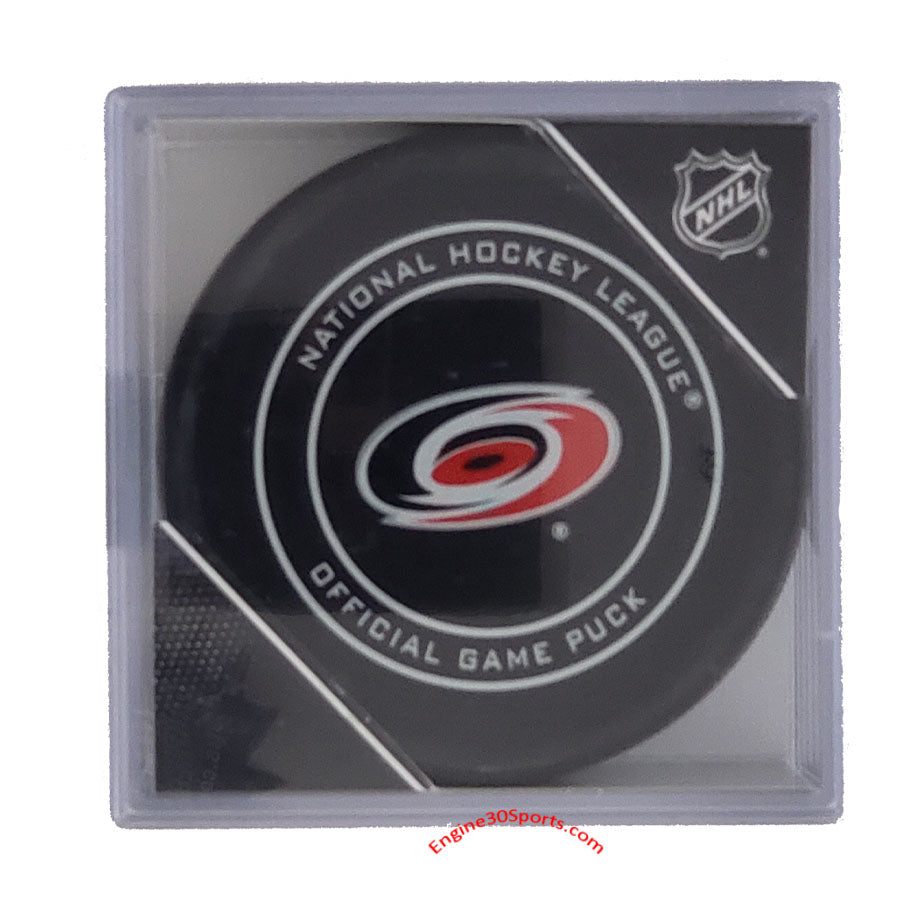 Carolina Hurricanes Official Game Puck In Display Holder