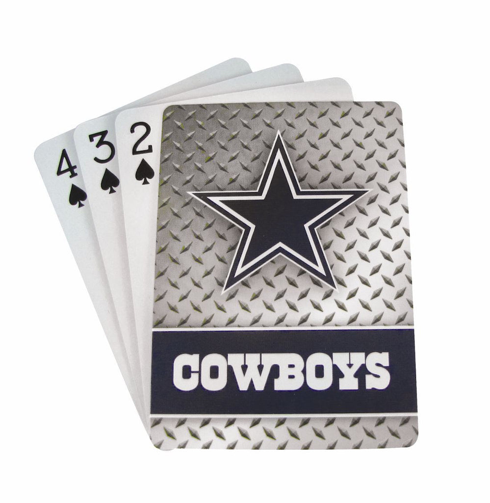 Dallas Cowboys Diamond Plate Pattern Playing Cards