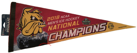 "Minnesota Duluth Bulldogs 2018 Hockey National Champions 12""x30"" Premium Pennant"