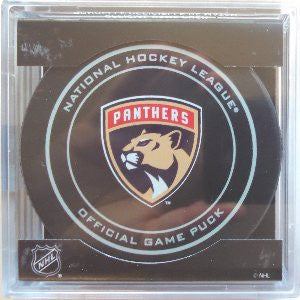 Florida Panthers 2016-2017 Official Game Puck In Display Holder
