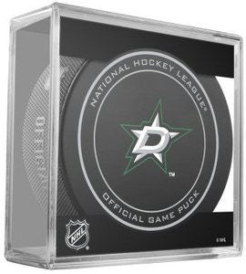 Dallas Stars Official Game Puck In Display Holder