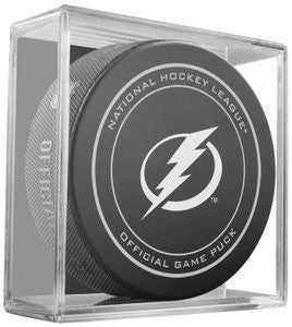 Tampa Bay Lightning Official Game Puck In Display Holder