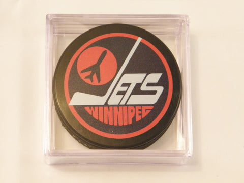 Winnipeg Jets 1979-1990 Hockey Puck In Square Display