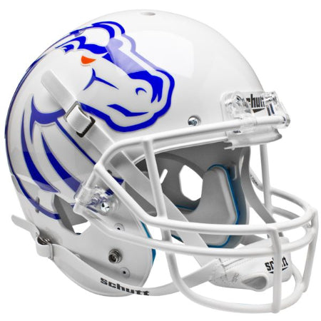 Boise State Broncos White Schutt XP Replica Helmet - Alternate 2