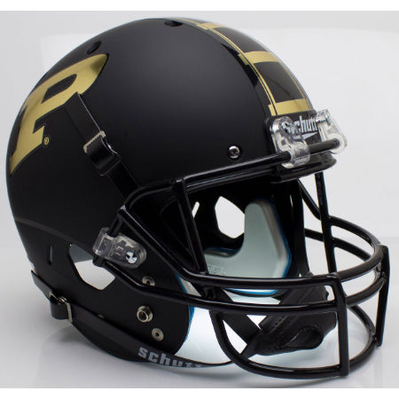 Purdue Boilermakers Matte Black Schutt XP Replica Helmet - Alternate 1