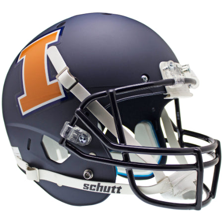 Illinois Fighting Illini Matte Navy Schutt XP Replica Helmet - Alternate 1