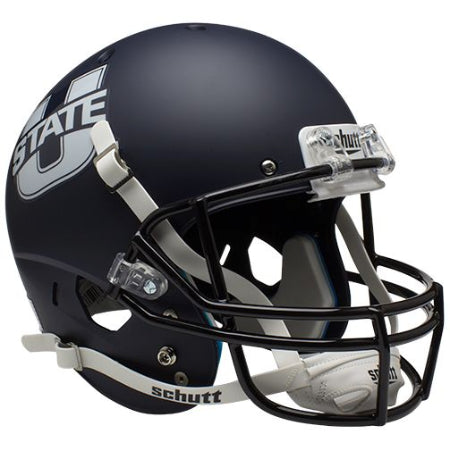 Utah State Aggies Matte Navy Schutt XP Replica Helmet - Alternate 1
