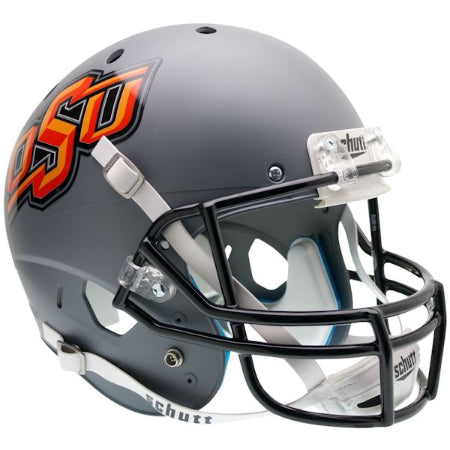 Oklahoma State Cowboys Matte Grey Schutt XP Replica Helmet - Alternate 1