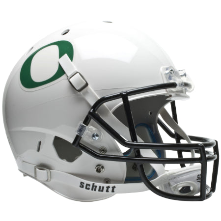 Oregon Ducks White Schutt XP Replica Helmet - Alternate 1