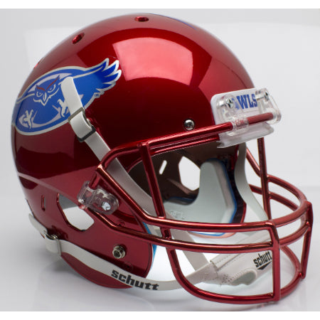 Florida Atlantic Owls Chrome Schutt XP Replica Helmet - Alternate 1