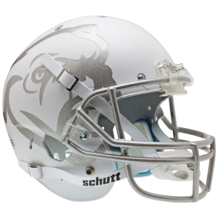 Mississippi State Bulldogs Matte White Aqua Tech Schutt XP Replica Helmet - Alternate 1