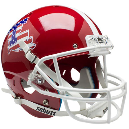 Louisiana Tech Bulldogs Stars & Stripes Schutt XP Replica Helmet - Alternate 1