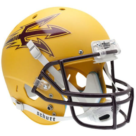 Arizona State Sun Devils Matte Gold Schutt XP Replica Helmet - Alternate 1