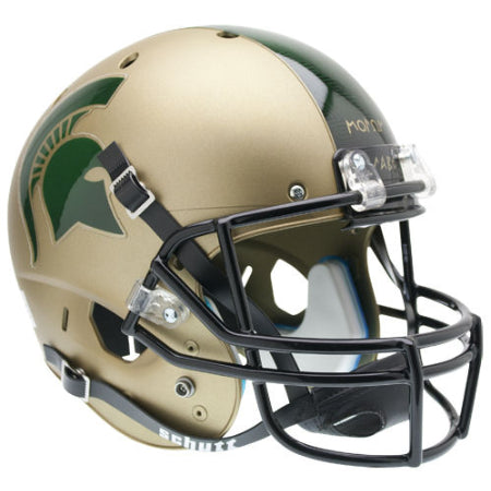 Michigan State Spartans Matte Gold Schutt XP Replica Helmet - Alternate 1