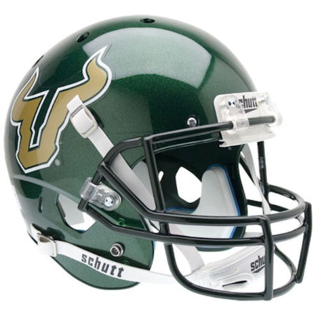 South Florida Bulls Green Schutt XP Replica Helmet - Alternate 1